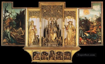 Isenheim Altarpiece third view Renaissance Matthias Grunewald Oil Paintings